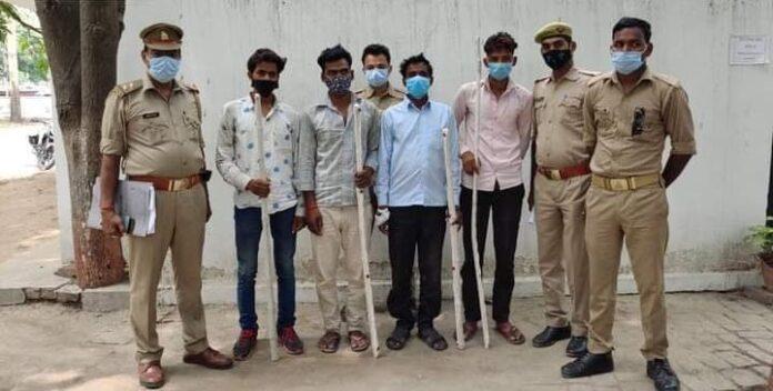 गैर इरादतन हत्या के 4 अभियुक्त गिरफ्तार