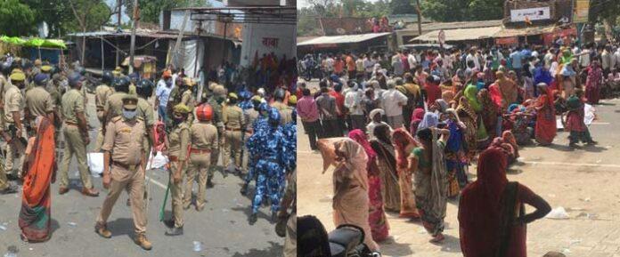 2 दोस्तों की मौत के बाद भीड़ ने किया सड़क जाम, पुलिस पर किया पथराव, 15 पुलिसकर्मी लहूलुहान