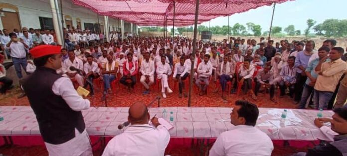 पूर्व प्रत्याशी पदमराग सिंह यादव के द्वारा बूथ सम्मेलन का हुआ आयोजन